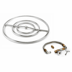 30in Stainless Steel Fire Pit Kit