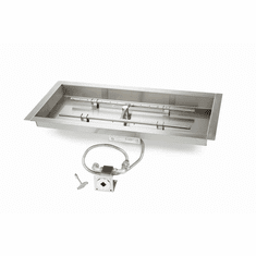 30X12in Stainless Steel Match lit Kit and Pan