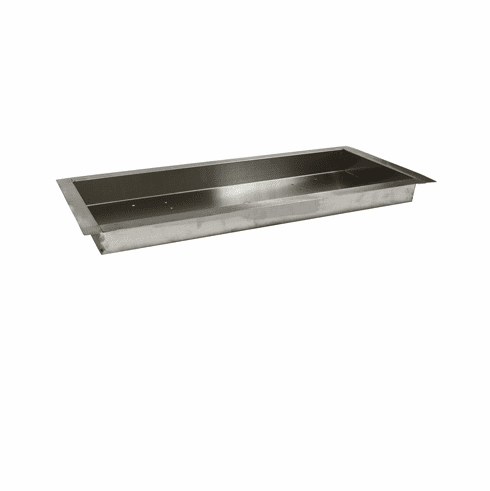 36x14in Stainless Steel Bowl style H-Burner Pan