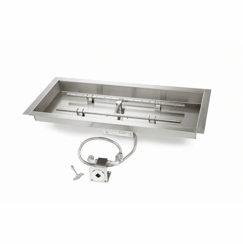 36X14in Stainless Steel Match lit Kit and Pan