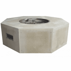 45in Octagon Ready-to-Finish Complete Fire Pit - Push Button/Flame Sense
