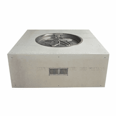 45in Square Ready-to-Finish Complete Fire Pit - Match lit