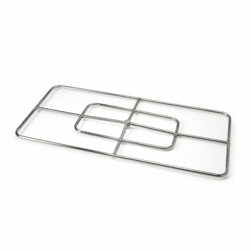 48X24in Stainless Steel Rectangular Fire Ring