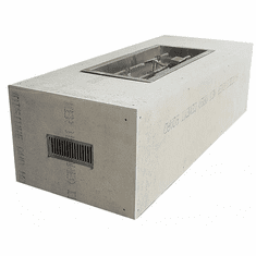 60X24in Rectangular H or S Burner Ready-to-Finish Complete Fire Pit - Match lit