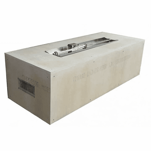 60X24in Rectangular Interlink Ready-to-Finish Complete Fire Pit - Push Button/Flame Sense