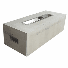60X24in Rectangular Trough Ready-to-Finish Complete Fire Pit - Match lit