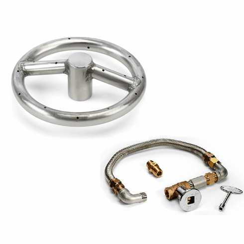 6in Stainess Steel Fire Pit Kit