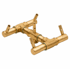"7.5"" x 7.5"" Original Crossfire Brass Burner 60K BTU"