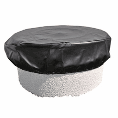 76in Black Vinyl Firepit Cover