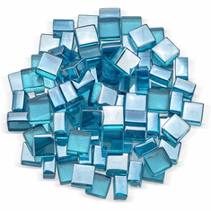 Azuria Blue Luster Fire Glass 2.0