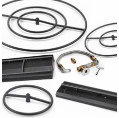 Black Cold Rolled Steel Fire Pit Kits
