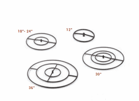 Black Cold Rolled Steel Gas Fire Rings