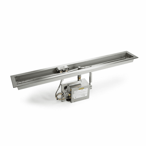 Electronic Ignition Fire Pit Kit Linear Trough 24in