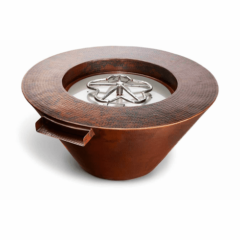 Mesa Copper Poolside Fire and Water Feature-Match lit