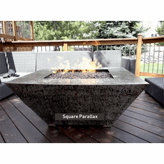 Parallax Square Fire Pit Table-Match lit
