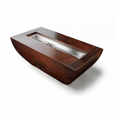 Phoenix Trough Complete Fire Pit - Push Button-Flame Sensing
