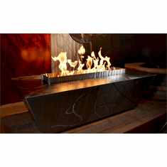 Rectangular Parallax Fire Pit Table - Match lit