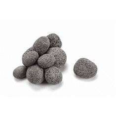 Rolled Lava Stone- Grey/Black