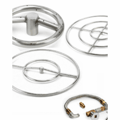 Round Stainless Steel Match lit Kits