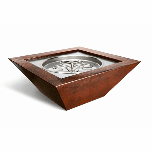 Sedona Hammered Square Copper Bowl - Remote Controlled