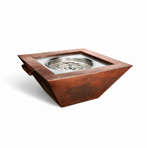 Seirra Copper Poolside Fire and Water Feature- Match Lit