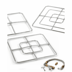 Square Ring Stainless Steel Match lit Kits