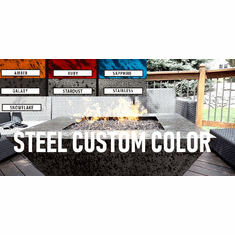 Stainless Steel Custom Color Fire Table