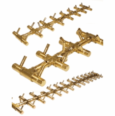 Tree-Style CROSSFIRE Brass Burners