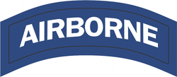 Airborne Blue and White Tab Decal
