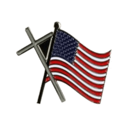 American Flag with Cross Pin