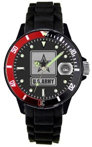 Aquaforce U.S. Army Watch With Etched Dial And Silicone Strap
