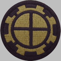 "Army 35th Engineer Brigade 2.5"" Subdued Patch"