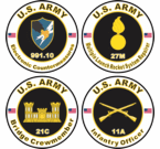 Army MOS Decals