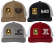 Army Split Design Embroidered Caps