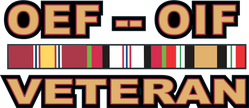 Operations Enduring Freedom (OEF) and Iraqi Freedom (OIF) Veteran Decal