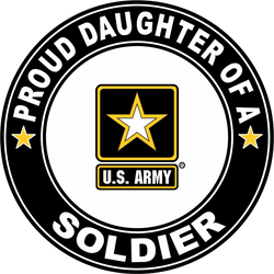 Proud Daughter of a Soldier U.S. Army Round Decal