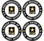 Proud Family Army Veteran Decals