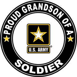 Proud Granddaughter of a Soldier U.S. Army Round Decal