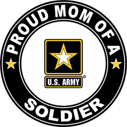 Proud Mom of a Soldier U.S. Army Round Decal