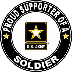 Proud Supporter of a Soldier U.S. Army Round Decal