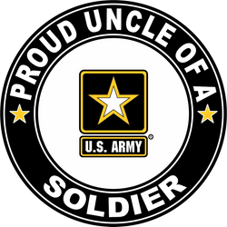 Proud Uncle of a Soldier U.S. Army Round Decal