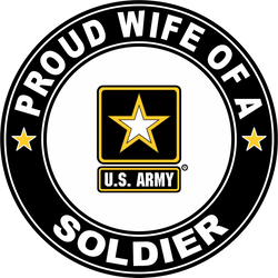 Proud Wife of a Soldier U.S. Army Round Decal