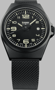 Traser P59 Essential M Black Watch with Milanese PVD Coated Stainless Steel Strap