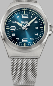 Traser P59 Essential M Blue Watch with Milanese Stainless Steel Strap