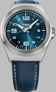 Traser P59 Essential M Blue Watch with Blue Leather Strap