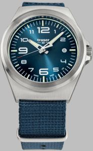 Traser P59 Essential M Blue Watch with Nato Strap
