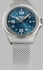 Traser P59 Essential S Blue Watch with Milanese Stainless Steel Strap
