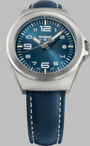 Traser P59 Essential S Blue Watch with Blue Leather Strap