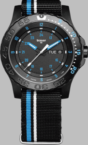 Traser P66 Blue Infinity Watch with Textile Strap