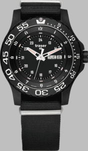 Traser P66 Elite Red Watch with Nato Strap